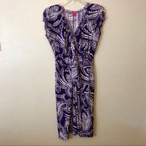 Sunny Leigh Dress - Size XL  - Purple & White